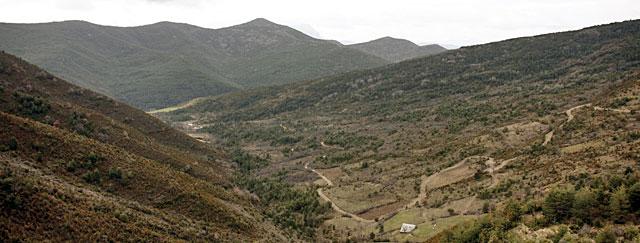 El Valle de Arnás, desde el Collado de Santa Marina